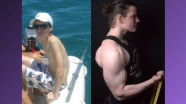 99lbs to 240lbs | BIG natural body transformation!