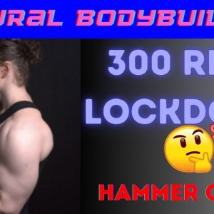 Lockdown challenge for fun, high reps hammer curls (brachialis)